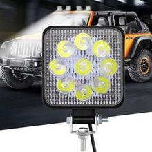 1 шт. 27W 2200lm 12-24V IP67 6000K квадратная светодиодная лампочка для авто бар противотуманных фар рабочий свет бар внедорожный ATV трактор, поезд