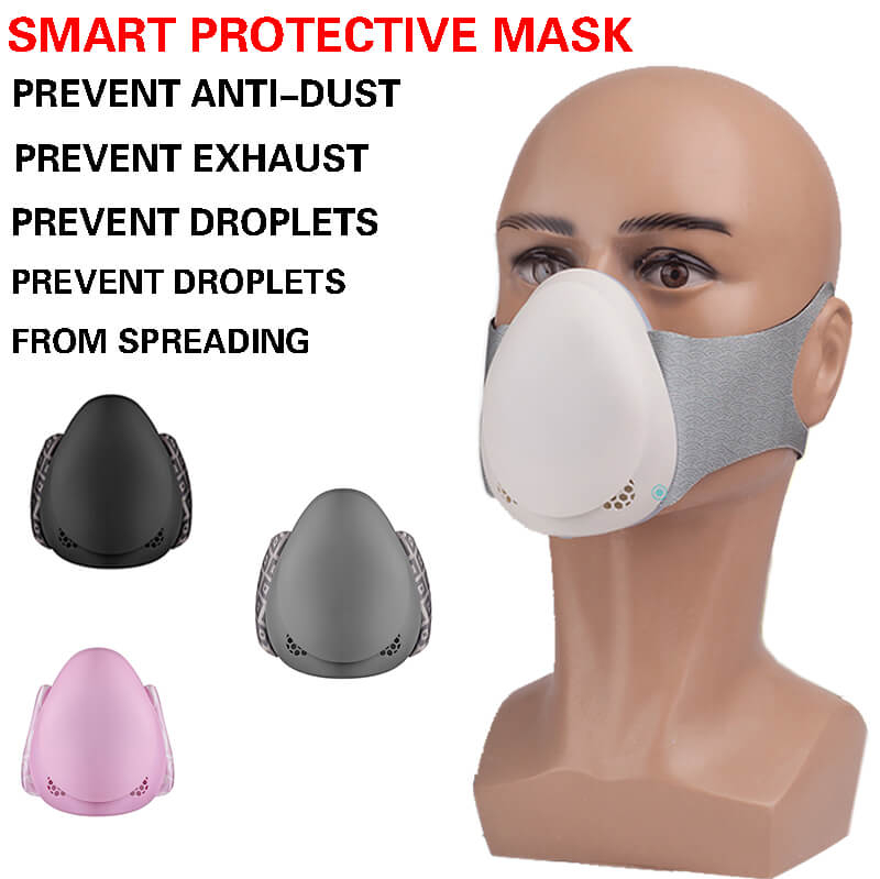 Electric Dust Mask Filter Air Anti Face N95 With Kids Adult Respirator Black Mouth White Grey Powder Masks Bacteria Gasket Pm2.5