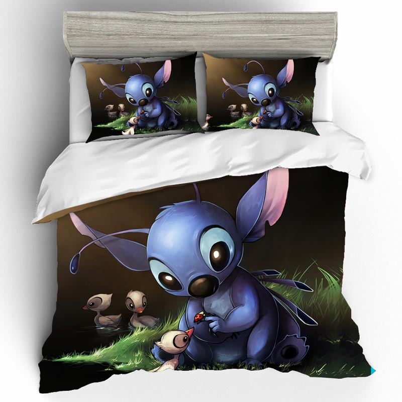 Stitch Bedding Sets Home Textile Duvet Cover Single Queen King Size Bedding Set Bed Sheets Pillowcases Bed Linen Ropa De Cama