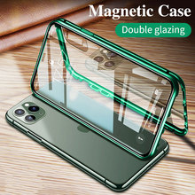 360 Magnetic Metal Double Side Glass Phone Case for Iphone 11 12 Mini  Pro Xs Max Xr X 7 8 Magnet Phone Cover for Iphone Se 2020