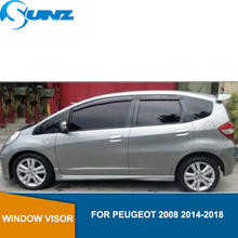 for HONDA FIT JAZZ 2003-2013 Window Visor deflector Rain Guard SEDAN SUNZ