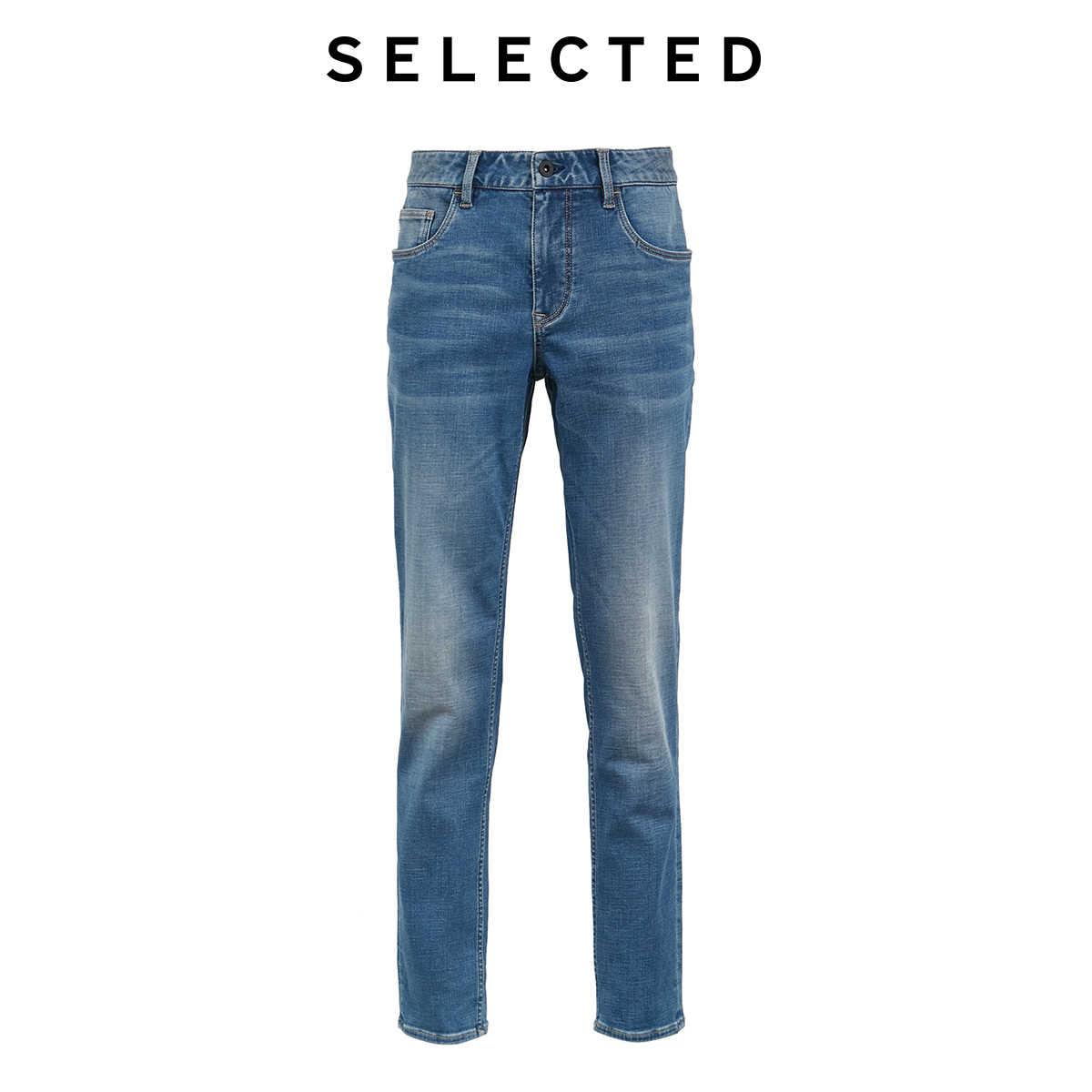 SELECTED 남성용 겨울 슬림 피트 스트레치 페이딩 Distressing Jeans L | 419432527