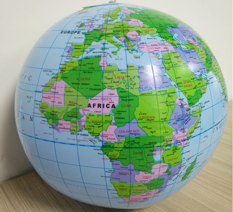 30cm Inflatable Blow Up World Globe Earth Map Ball Educational Planet Earth Ball Ocean Kid Learning Geography Toy Home 4