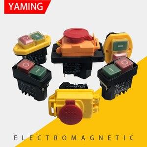 YCZ serisi elektromanyetik anahtarı sıfırlama anlık başlangıç Pin ayak kapalı koruma kapağı su geçirmez mekanik ekipman güç