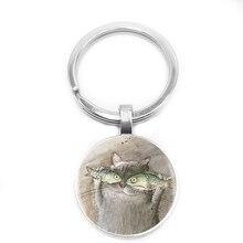 2018/ Hot Sale, Cute Cat Fish One Portrait, Vivid Glass Pendant Necklace Jewelry.
