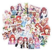 50 pçs anime cinco iguais adesivos bonito adorável anime personagem adesivo para computador portátil mala geladeira skate diy graffiti adesivos