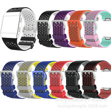 High Quality 2019 New Silicon Watch Band for Fitbit Ionic Two-color Honeycomb Breathable Wristband Sports Casual ONIC Strap(China)