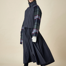 AIGYPTOS Handmade Series 2020 Winter New Double-sided Plaid Jacket White Duck
