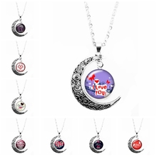 2019 New Romantic Style Classic Moon Necklace Handmade Pendant, Letter Pattern Element Pendant