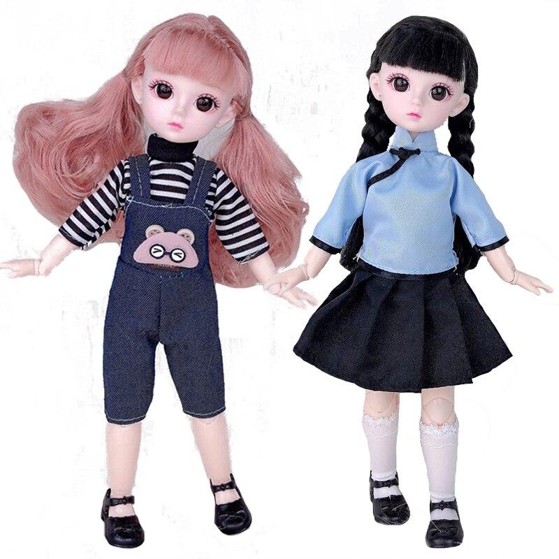 30 см BJD кукла 1/6 21 подвижные суставы принцесса детское платье модная повседневная одежда аксессуары куклы для девочек игрушки подарок сдела...