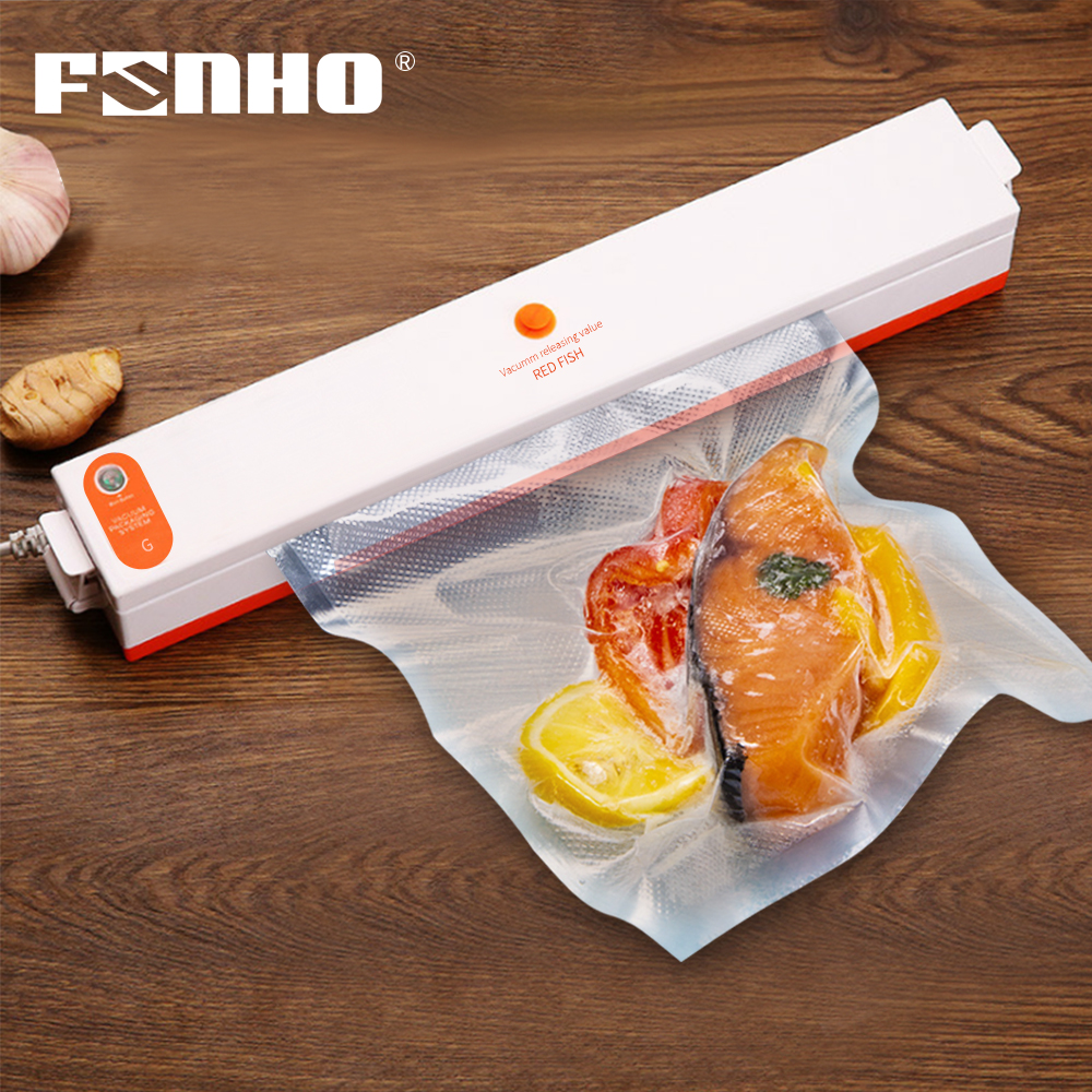 FUNHO Electric Vacuum Sealer Machine 220V 110V House Automatic Food Vacuum Packaging Machine With Vacuum Bag Seladora A Vacuo