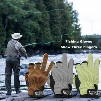 Antypoślizgowe rękawice wędkarskie poliester bawełna przenośne miękkie na zewnątrz przynęty wędkarskie do wędkowania na zewnątrz przenośne akcesoria tanie i dobre opinie JOCESTYLE CN (pochodzenie) Fishing Gloves Anti-Slip Trzy Wyciąć Palec
