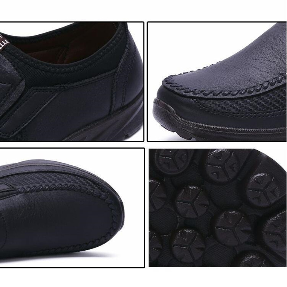 Mashejackxin Mens Moccasins Loafers Comfortable Anti Slip Durable Leather Mens Casual Shoes Breathable Zapatillas Hombre 5