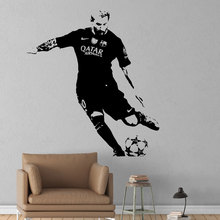 Famous Football Star Sports Wall Sticker For Boys Bedroom Decoration Sports Poster Vinyl Art Design Decals For Kids W713