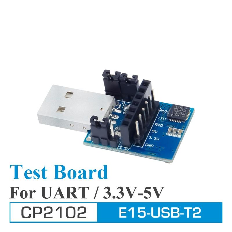 2pcs/lot Test Board USB UART CP2102 E15-USB-T2 Ebyte UART USB To TTL 3.3V 5V Wireless Adapter For RF Serial Module