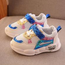 2019 Toddler Mesh Casual Sneakers Children Glitter Sport Shoes Baby