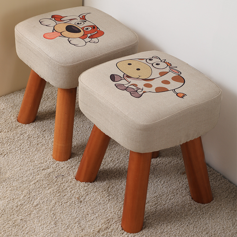 Small Stool Household Low Stool Solid Wood Shoes Stool Fashion Adult Bench Sofa Stool Wooden Stool Small Chair