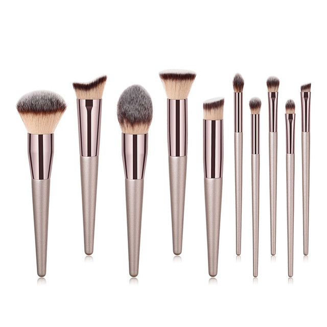 22 PCs Makeup Brushes Champagne Gold Premium Synthetic Concealers Foundation Powder Eye Shadows Makeup Brushes 1