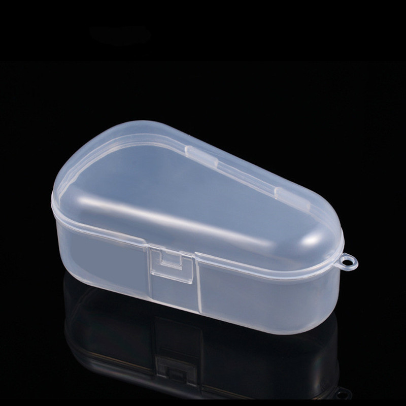 Water-drop Type Transparent Baby Teether Nipple Nasal Irrigator Storage Box Safety PP Children Kids Medicine Candy Storage Box