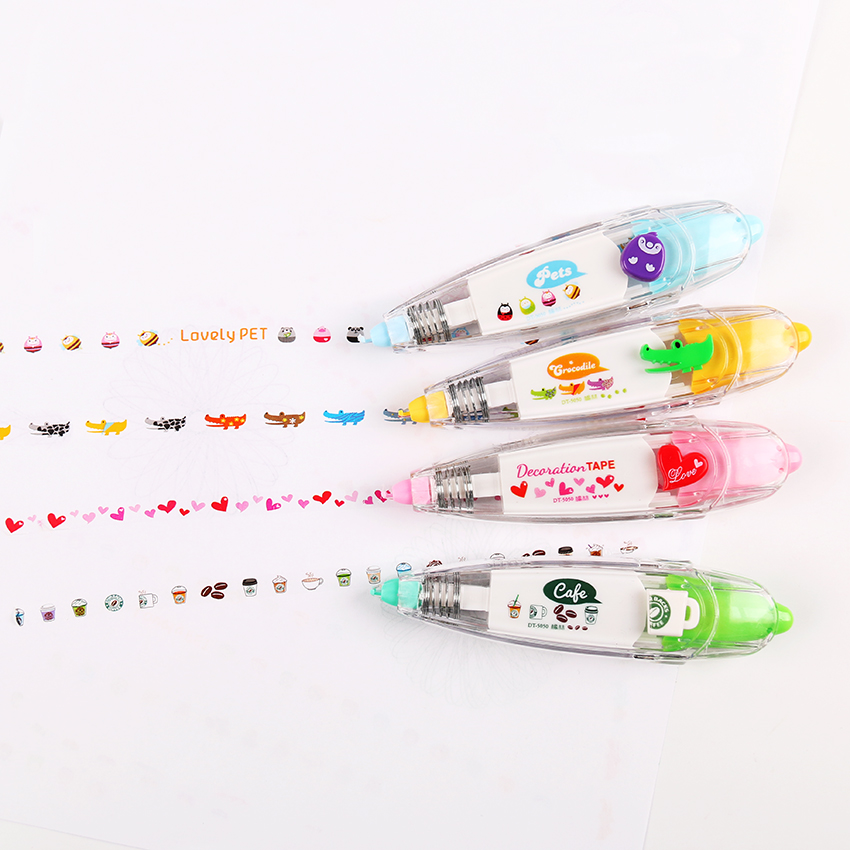 Korea Stationery Cute Novelty Decorative Correction Tape Correction Fluid School & Office Supply 1 PC