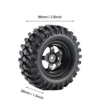 4 Sztuk 1:10 Off Road Gąsienica RC Buggy RC Samochodów Gumowe Opony I Felgi Odporność Na ścieranie W Celu Uzyskania Model Akcesoria