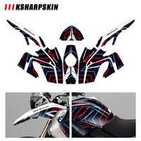 Body decoration protection sticker KSHARPSKIN motorcycle reflective decal for BMW R1200GS R1200 gs 2008 2012