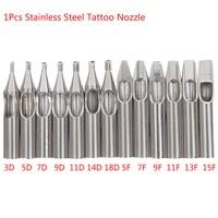 Kit de puntas de tatuaje de acero inoxidable 304, punta de diamante para agujas de tatuaje, maquillaje permanente, 1 ud., novedad