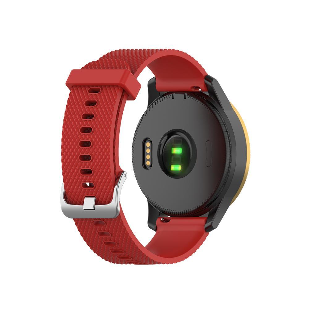 FIFATA 18 20 22mm Silicone Watch Band For Garmin Venu Vivoactive 4S Vivoactive 4 Bracelet For Forerunner245/245M Wrist Strap