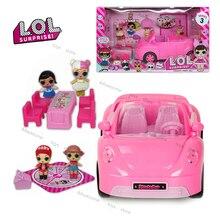 Оригинальные куклы LOL Surprise, игрушечный домик для игры, автомобиль для пикника, кабриолет с набором мебели, игрушки, розовый спортивный автом...