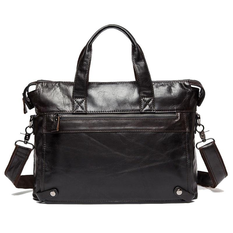 Messenger Bag Men's Genuine Leather Men's Shoulder Bags Made Of Natural Male Briefcases Laptop Crossbody Bag For Men