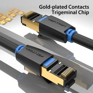 Image 3 - Chính hãng Vention Cat8 Cáp Dù RJ45 SSTP Miếng Dán Cáp 40Gbps RJ 45 LAN Cáp cho Máy Tính Laptop Router Modem MÁY TÍNH cat7 Cáp Ethernet