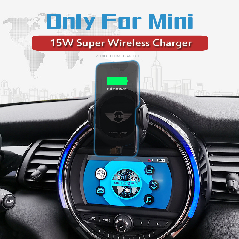 L Infrared Sensor Automatic Qi Fast Wireless Car Phone Charger for Mini Cooper S JCW One F54 F55 F56 F60 2