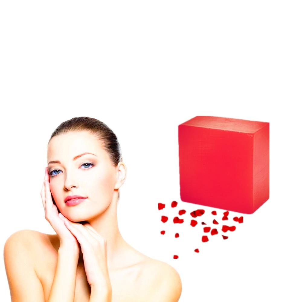 Acne Treatment Rose Essence Anti Wrinkle Beauty Handmade Soaps Oil Control Scar Repair Reddish Skin Whitening Bathing Soap 1Pcs