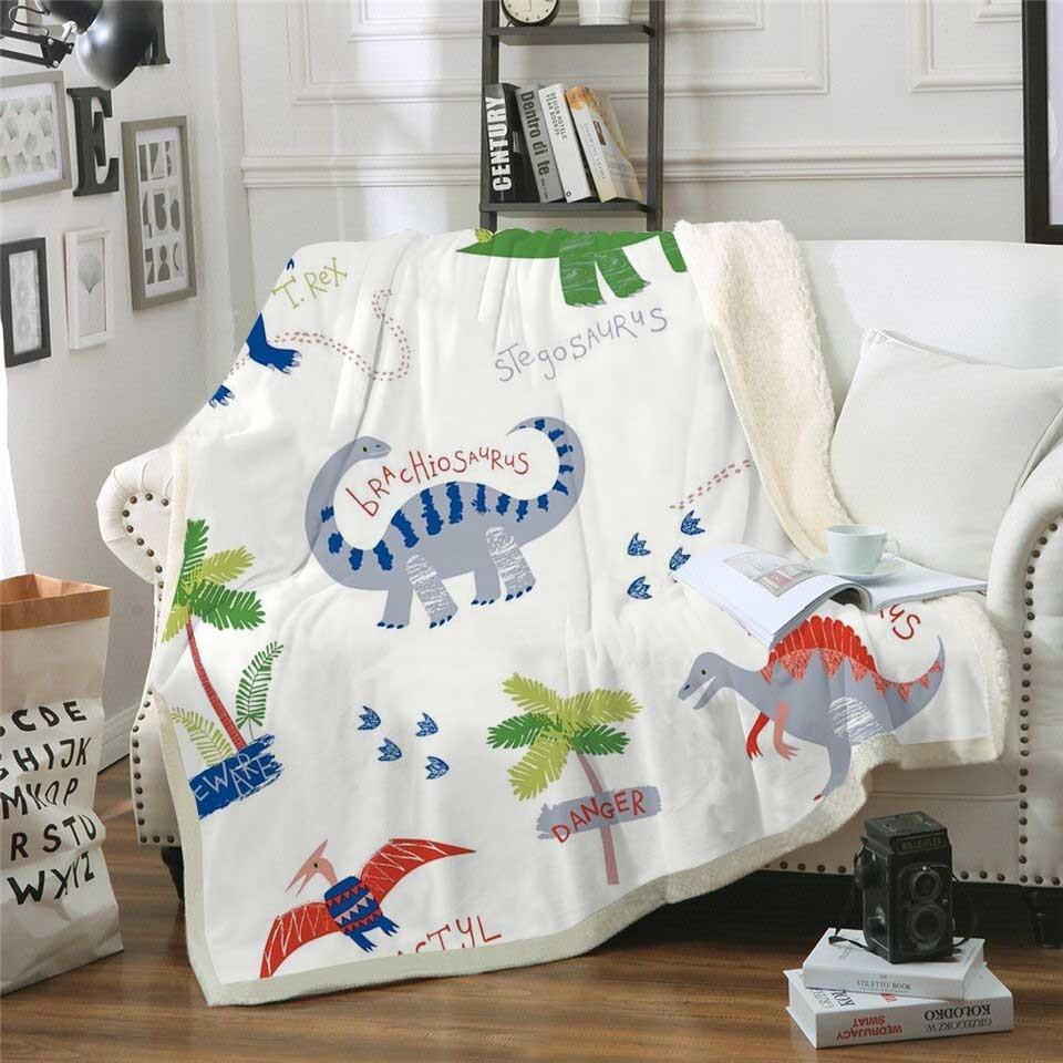 Throw Fleece Blanket Plush Sherpa Blanket Animal Boys Travel Bedding Outlet Velvet Bedspread Airplane Quilt Салфетницы