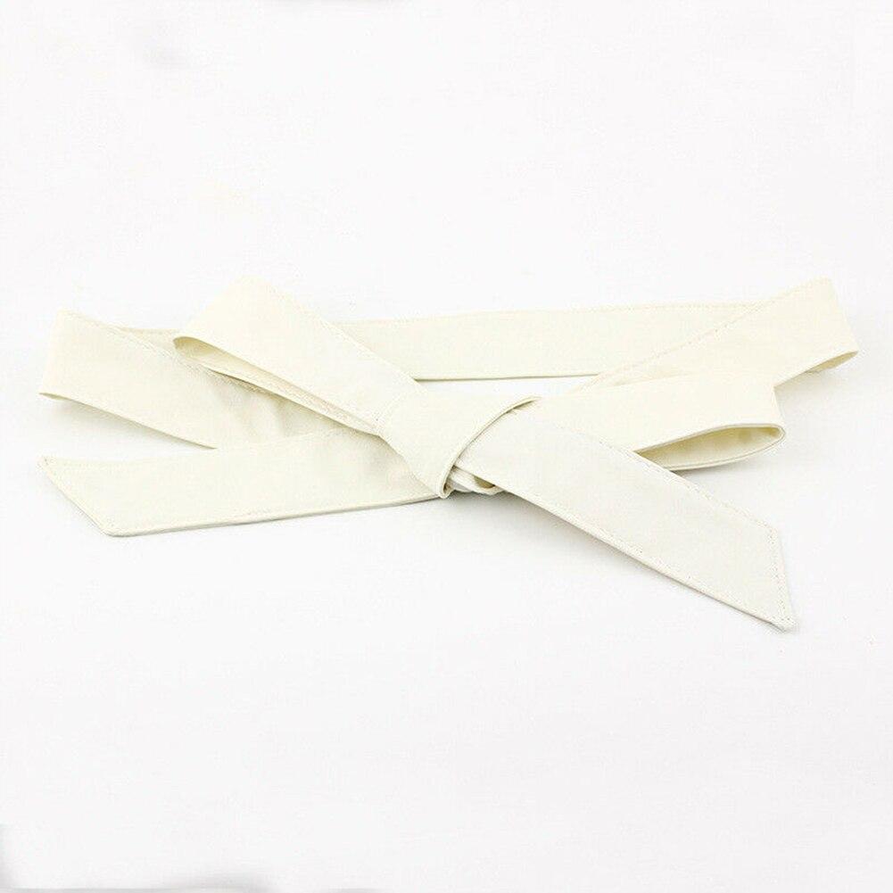 Corset Ribbon Self Tie Ladies Wide Dress Decor Casual Soft Wrap Around Waistband Bowknot Women Waist Belt Silk Fashion