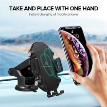 10W Automatic Car Wireless Charger For iPhone X Xs Max 8 Plus Qi Fast Wireless Car Charging Mount Stand For Samsung S10 S9