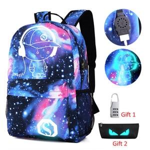 Anti-theft Luminous School Bag
