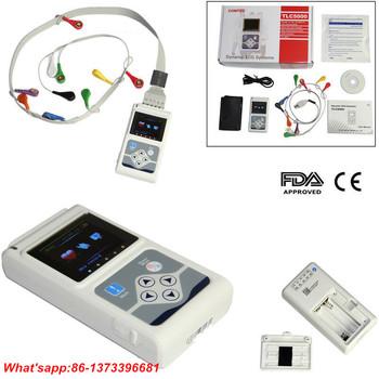 CONTEC TLC5000 dynamiczny ekg System 12 kanałowy 24h holter analizator oprogramowanie komputerowe USB holterowskie ekg najnowszy tanie i dobre opinie CONTECMED nothing Ciśnienie krwi TLC 5000