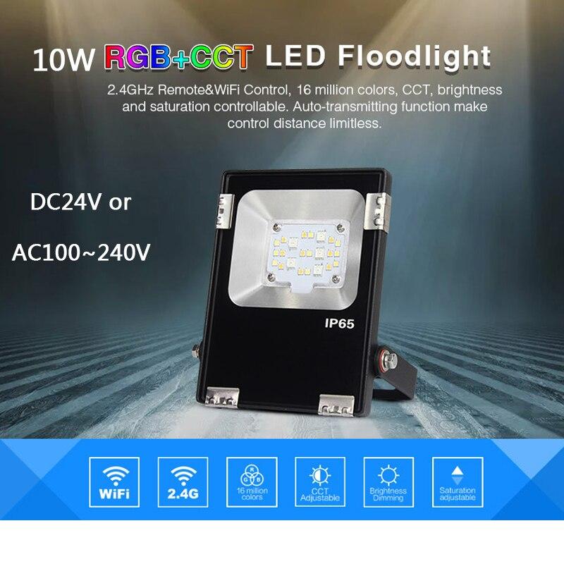 Miboxer FUTT05/FUTT06 DC24V AC100~240V 10W RGB+CCT RGB+CCT LED Flood light IP65 Waterproof Outdoor Lighting For Garden