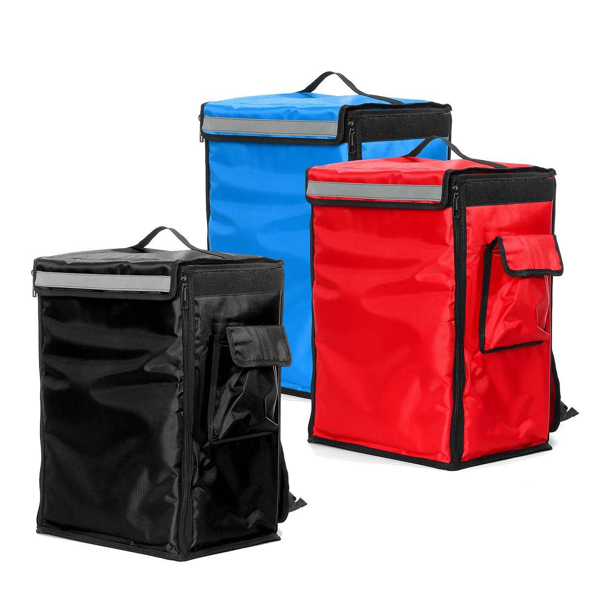 Saco de entrega de alimentos de pizza 42l portátil saco isolado térmico takeaway entrega mochila dobrável pacote de isolamento sacos de refrigerador de piquenique