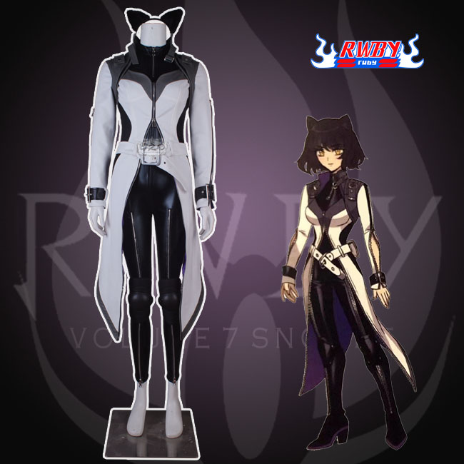 Anime! RWBY Season 7 Blake Belladonna Battle Suit Gothic Uniform Cosplay Costume Women Halloween Customized NEW Free Shipping image