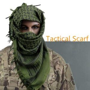 Image 2 - Grube muzułmańskie Shemagh taktyczne pustynne arabskie szale mężczyźni kobiety zimowe wietrzne wojskowe wiatroszczelne szalik turystyczny