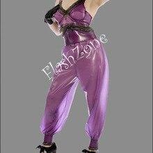 Высокая талия брюки латекс свободный крой брюки(не включая топы и перчатки