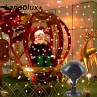 Lanpulux Snowfall Projector Night Lamp Outdoor Waterproof Christmas Snowflake Xmas Decoration Remote Control Holiday Lighting