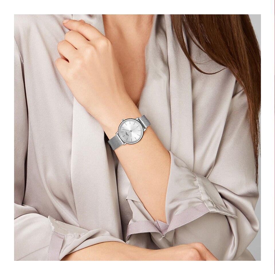 Ensemble bijoux Femme montre cristal Design Bracelet collier 3