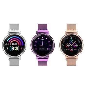 Reloj inteligente Oloey MC11 rastreador de Fitness para mujer con recordatorio de ciclo fisiológico femenino mensaje de llamada recordatorio diamante
