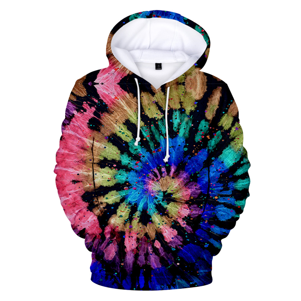 New 3D Tie Dye Hoodie Men / Women Spring Clothes Oversize Sweatshirt Men's Clothing Harajuku Pullover Hoody Print Casual Hooded 3