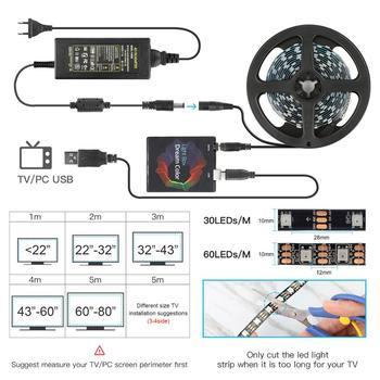 DIY Ambient TV PC Dream Screen USB LED Strip HDTV Computer Monitor Backlight Addressable WS2812B LED Strip 1/2/3/4/5m Full Set 2