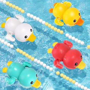 Nowa letnia łazienka z wanną prysznic dla dzieci mechaniczna pływanie dzieci bawią się wodą śliczne małe kaczki wanna do kąpieli zabawki dla dzieci prezenty tanie i dobre opinie CN (pochodzenie) Z tworzywa sztucznego ZHW450 Yellow Duck Certyfikat 2020152203030519 Kaczka Stay away from fire Mechaniczna dabbling zabawki