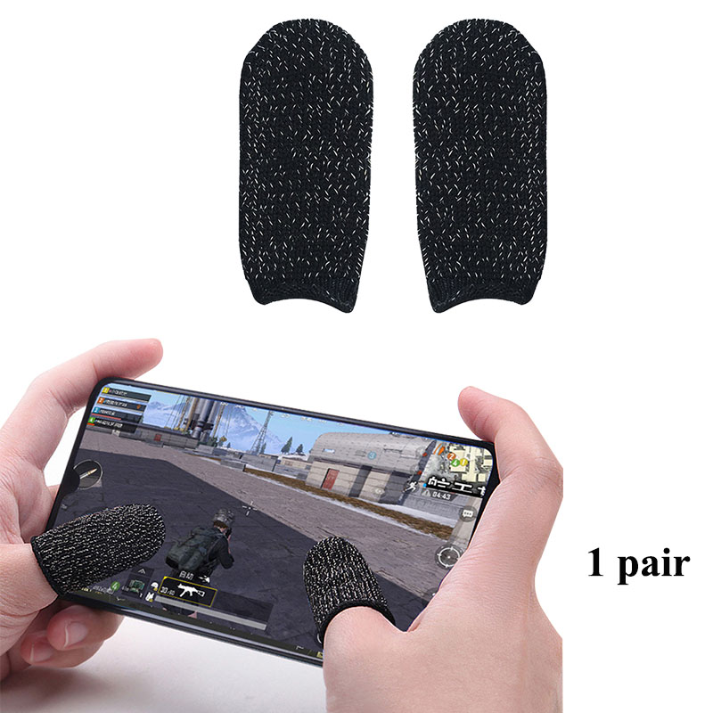 1 Pair Gaming Finger-Sleeve Touch Screen Thumbs Sleeve Non-Scratch Sensitive Breathable For Pubg Mobile Phones For Tablet IPad